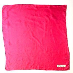 GIVENCHY Hot Pink Silk Scarf Bandanna Neckerchief
